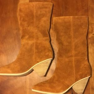 Anthropologie Jeffrey Campbell  suede boots 6